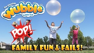 Repeat youtube video WUBBLE BUBBLE Explosion!  POPPING The Ball That Looks Like a Bubble!