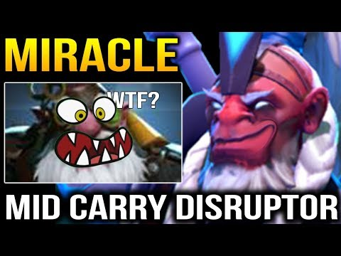 Miracle the Meta Creator: Disruptor MID CARRY Dota 2 thumbnail