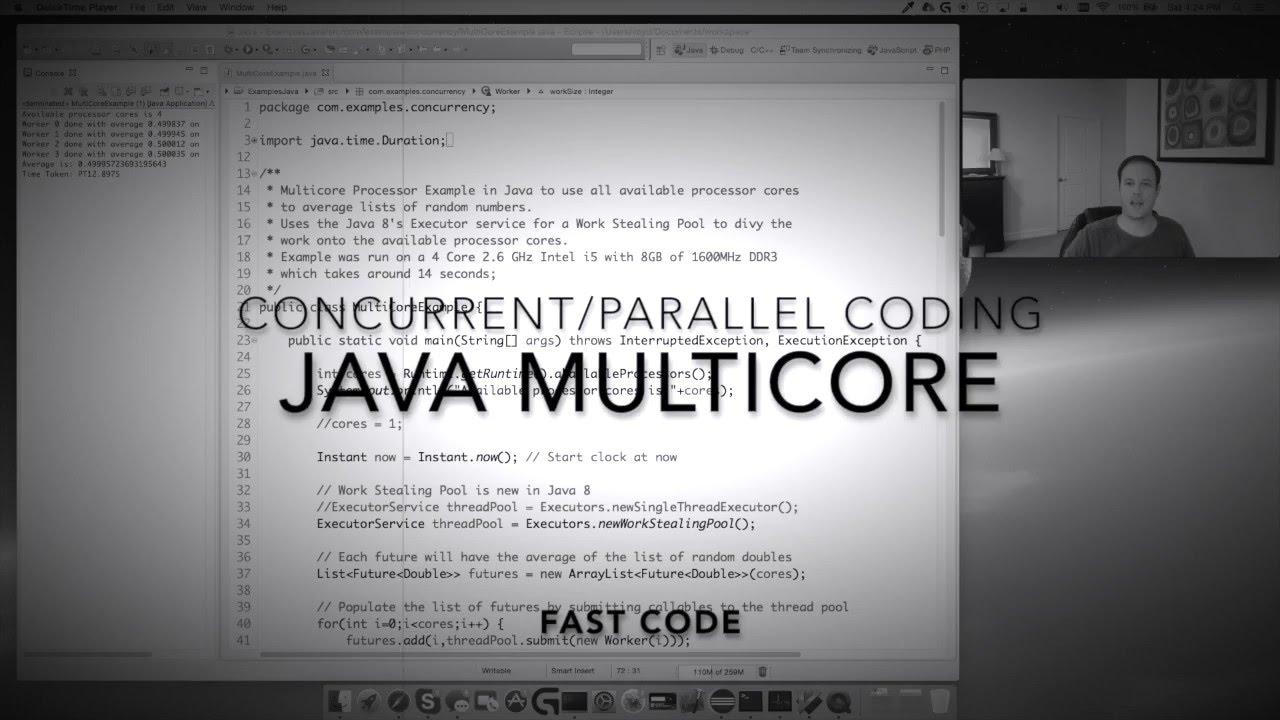 Java Multicore Concurrent Code Youtube