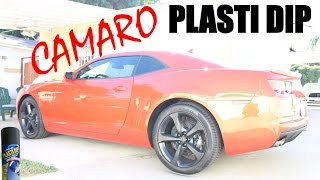 2013-2014 Chevy Camaro Ss / Rs Plasti Dip Rims And Grill W/ Glossifier Diy