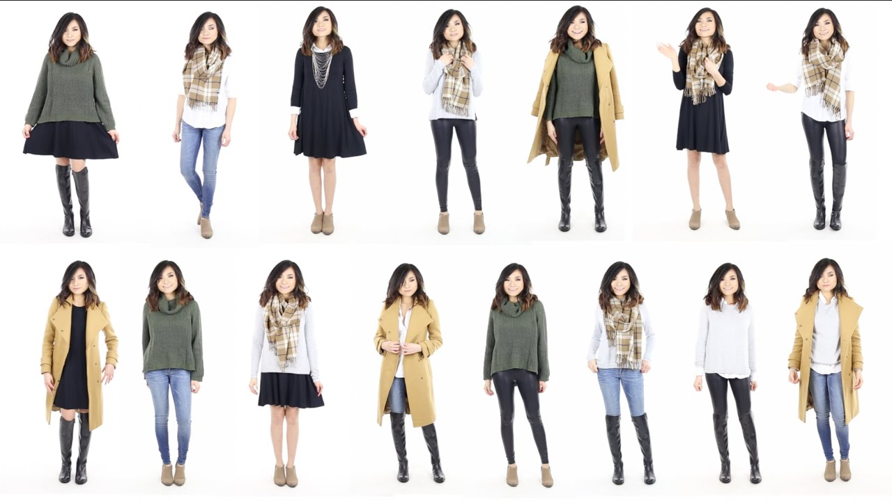 10 Pieces 15 Looks Winter Capsule Wardrobe Minimalist