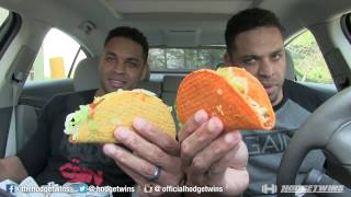 Eating Nacho Cheese Doritos Locos Tacos &  Cool Ranch Doritos Tacos @hodgetwins