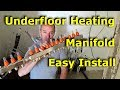 How to connect an Underfloor Heating Manifold...