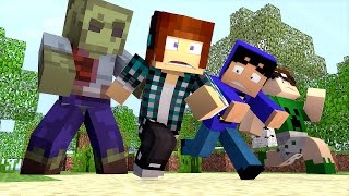 Minecraft: #01 - O Zumbi GIGANTE !!