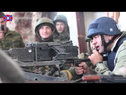 Russian actor Porechenkov shooting at Donetsk airport