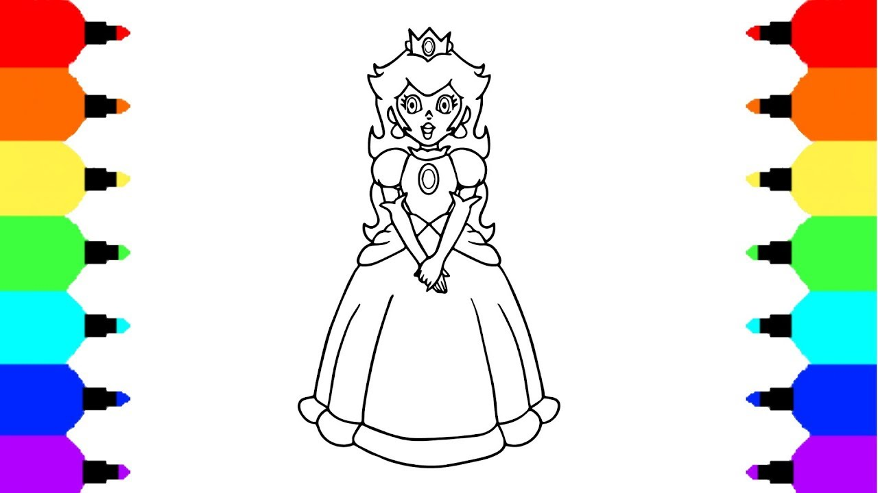 How To Draw Princess Peach From Mario Bros