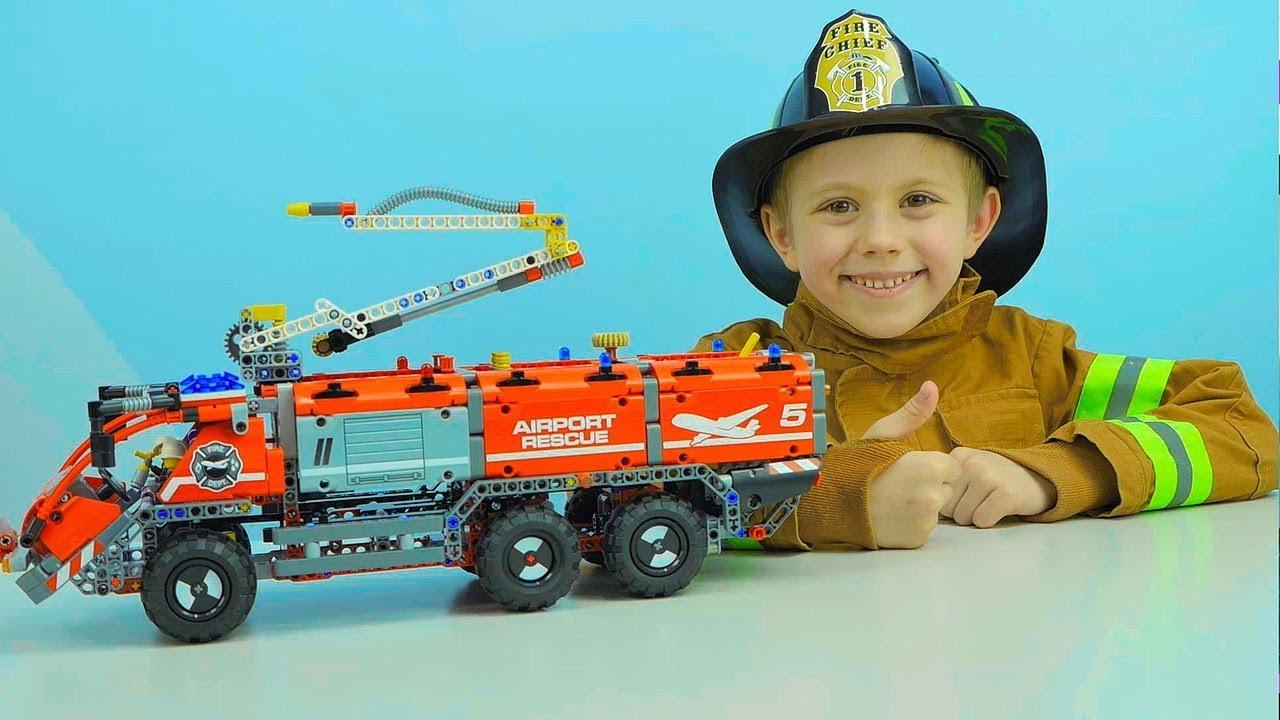 Машинки ЛЕГО и Даник Пожарная машина аэропорта LEGO TECHNIC 42068