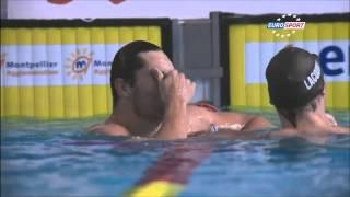 Florent MANAUDOU 50m dos monsieur championnat de France de natation 25m/2014