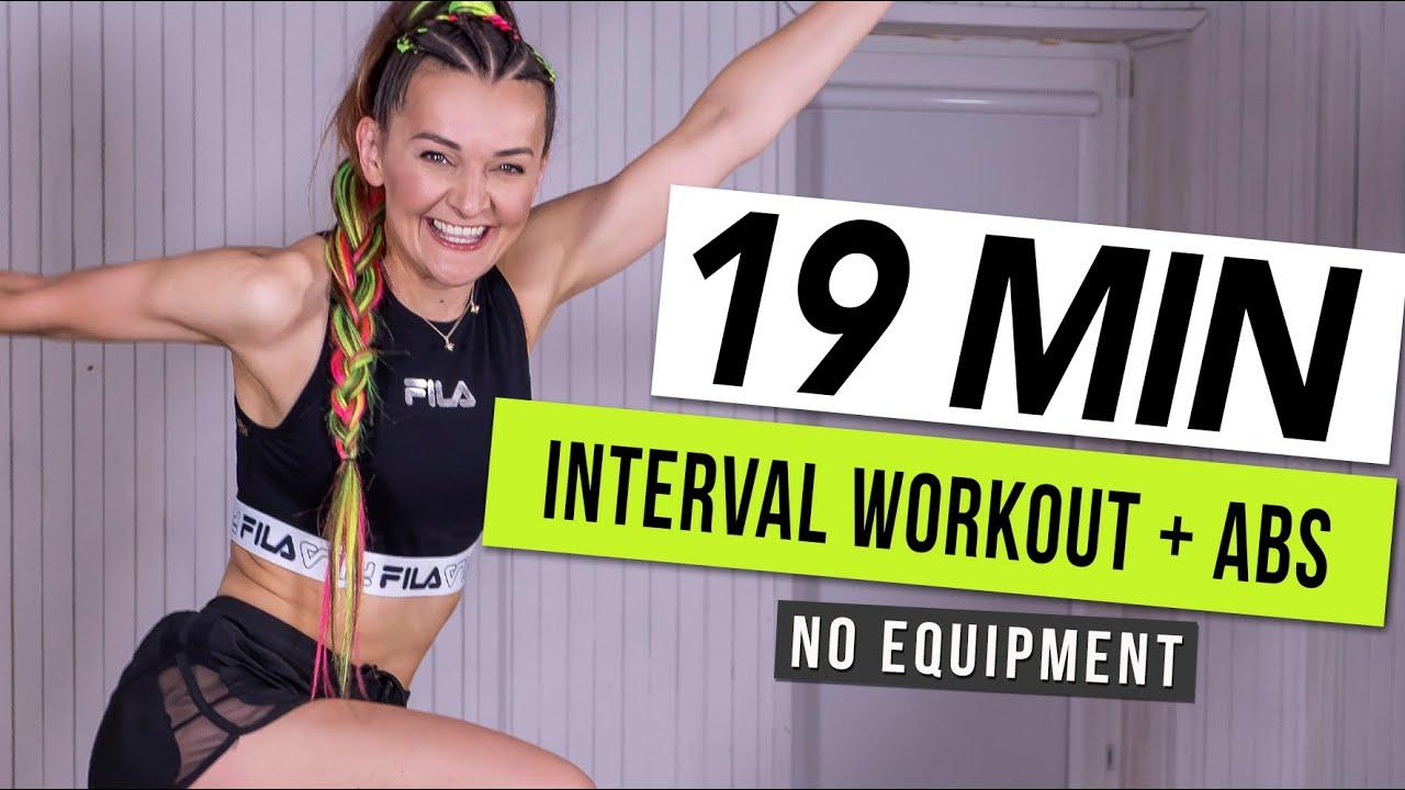 19 MIN EXTREME HIIT WORKOUT + ABS / No Equipment I Monika Kolakowska