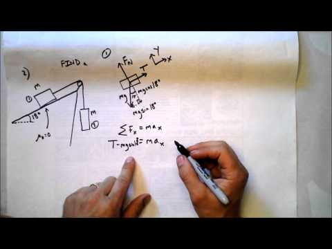 Four Weighty Problems Solved | Inclined Plane and Atwood's Machine Worked Examples | Doc Physics