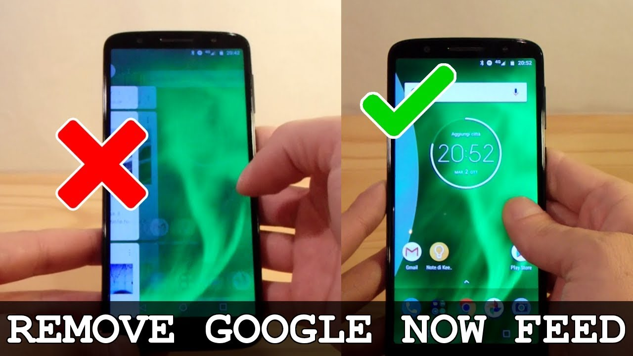 MOTO G6 and G6 Plus • How to remove Google Now from left homescreen