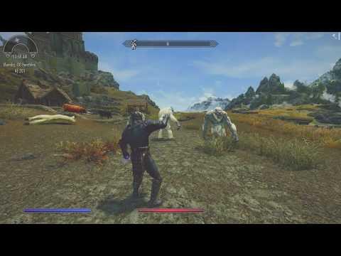 Мод Strength of the Gods для Skyrim отправляет врагов в полёт
