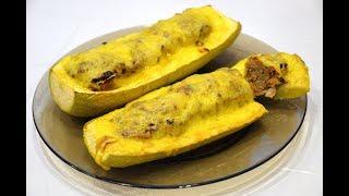 Кабачки лодочки с фаршем запеченные в духовке./Baked zucchini.