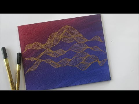 zentangle canvas art || Acrylic Painting Abstract Doodle and Dot Painting Tutorial thumbnail