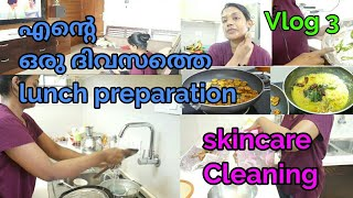 My lunch preparation||Cooking,skin care ,Cleaning ||Quick and Easy lunch menu||Malayalam