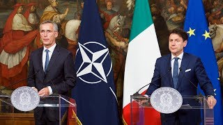 NATO Secretary General with Prime Minister Giuseppe Conte of Italy, 9 OCT. 2019