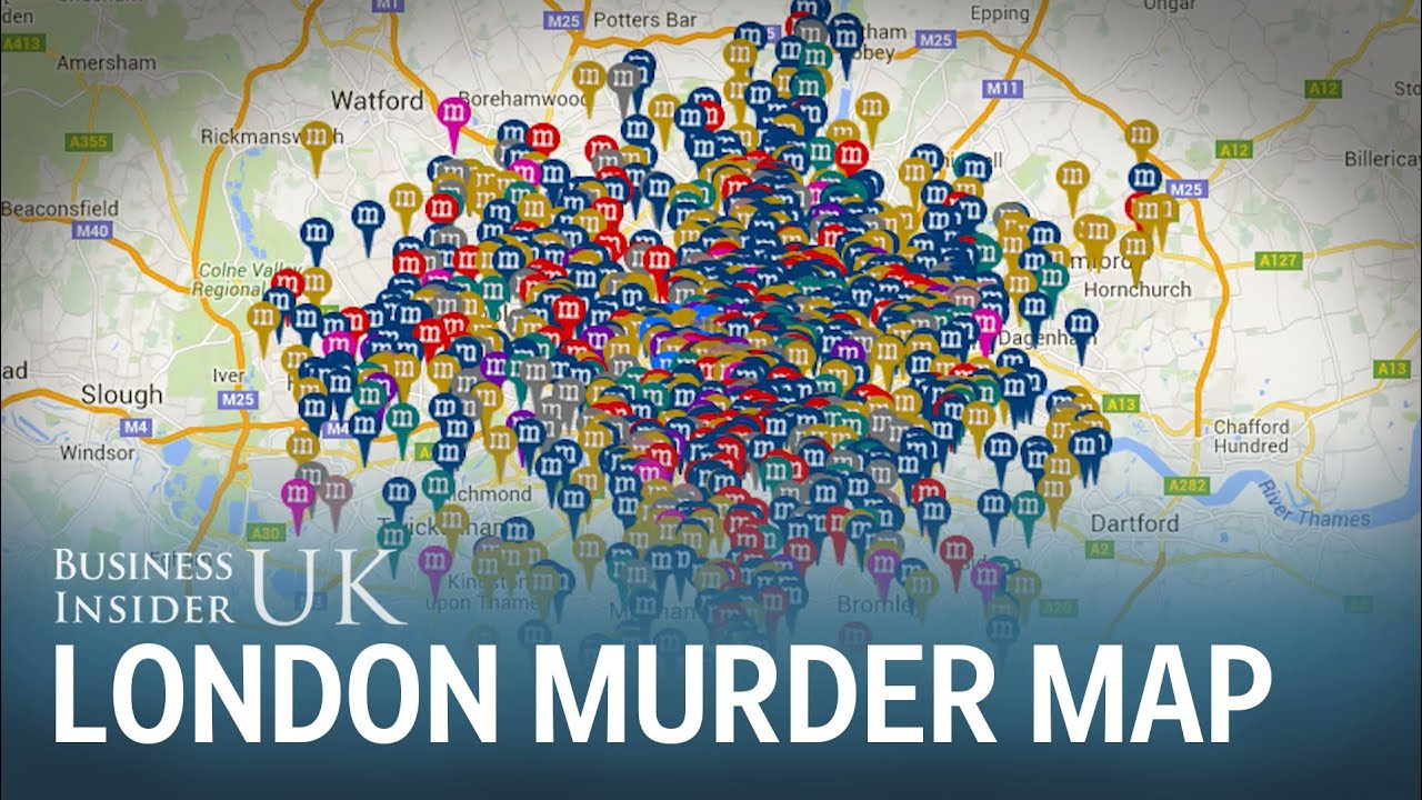 Map Shows Every Murder In London Since The 1800s