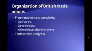 Characteristics of British Trade Unions