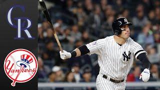 Rockies vs Yankees Highlights (7/19/19) | MLB Highlights