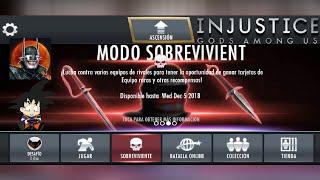 Injustice Android Survivor Mode / Modo Sobreviviente 1 Liga de Los Asesinos Gear Set Truco
