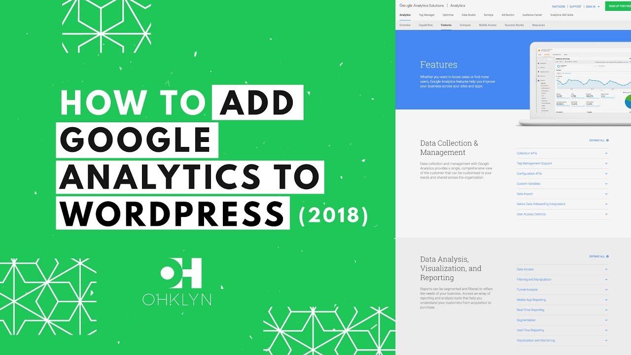 adding google analytics to wordpress