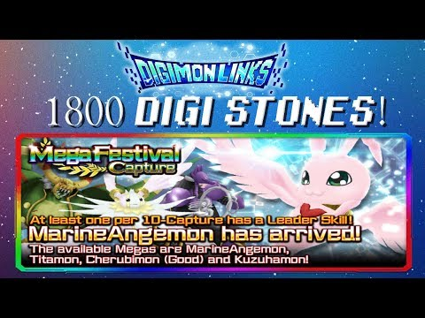 Digimon Links | 1800 DIGI STONES MARINEANGEMON GATCHA! (Flawless Leader Skill)