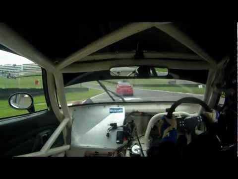 Eurosaloons 2012 Brands Hatch race-2 Hayabusa Suzuki Cappuccino in-car
