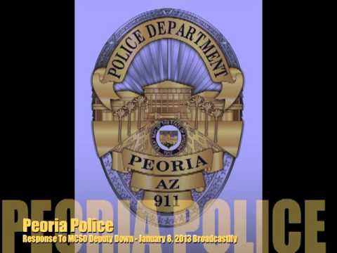 Peoria Police Enroute to Officer Down Jan 8, 2013 - Scanner Audio - Peoria Arizona