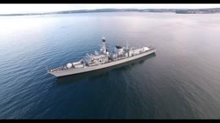 HMS SOMERSET IN TORQUAY BAY