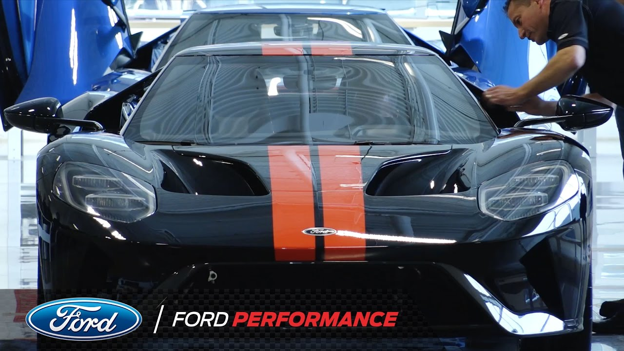 Ford Gt Job One Ceremony In Ontario Ford Gt Ford Performance Youtube