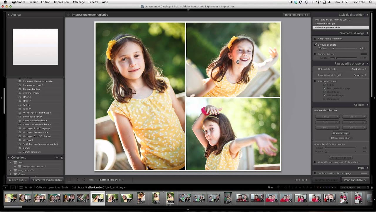 montage photos dans lightroom - Montage Pele Mele