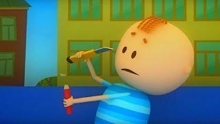 Аркадий Паровозов спешит на помощь - Почему карандаши лучше точить точилкой - мультфильм детям