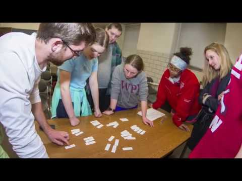 Step 2 of WPI students' Interactive Qualifying Project (IQP) journey to Bar Harbor