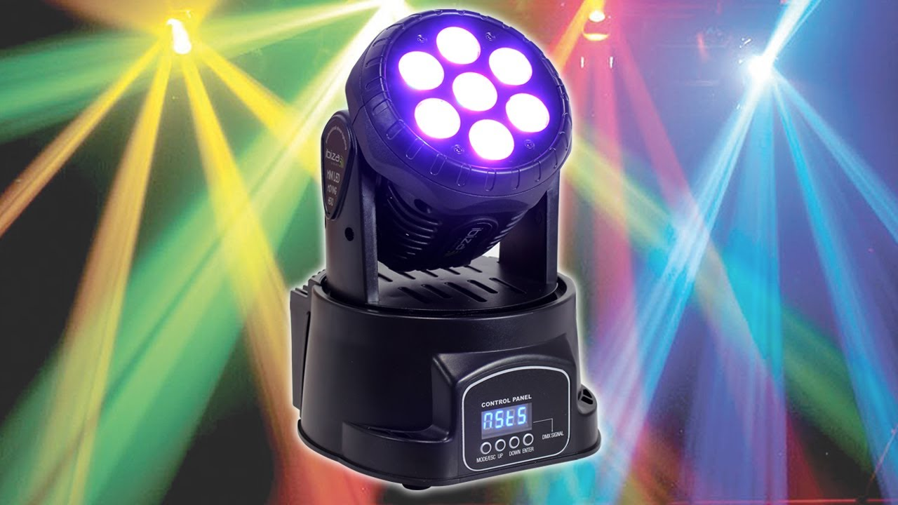 Ibiza Lhm350led Mini Moving Head Light Effect Led Stage Dj