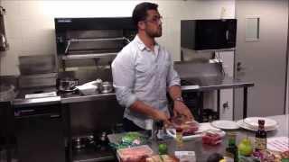 Recipe: Steak, Kumara & Beetroot Mash With Almond & Buttered Green Beans