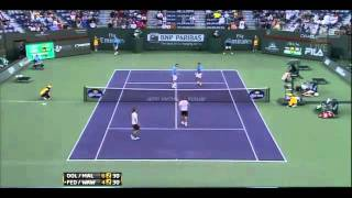 Dolgopolov & Malisse vs Federer & Wawrinka 2011 Indian Wells Final*