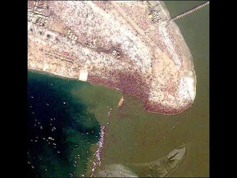Kumbh Mela gathering visible from space