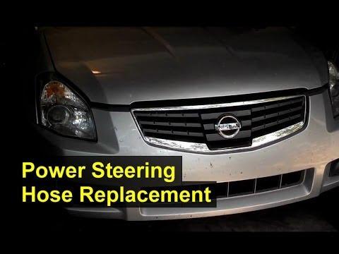Power steering hose replacement, hi pressure hose, Nissan Maxima - VOTD