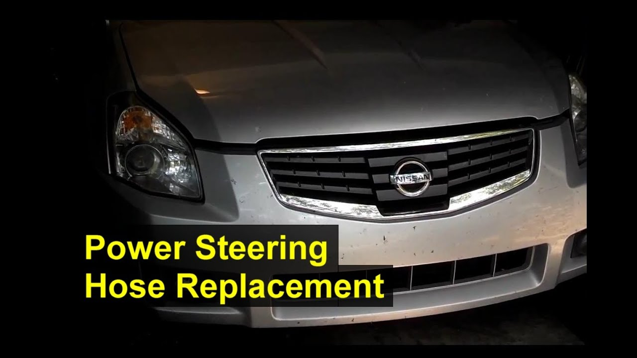 2007 Nissan Maxima Engine Diagram Rj12 To Rj45 Wiring Power Steering Hose Replacement Hi Pressure Votd Youtube