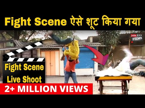 Action film ke set pe Fight Scene ki Shooting | Making of Fight Scene | Actual Movie Shooting