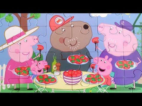 Свинка Пеппа и Джордж собираем пазлы для детей | Merry Nika