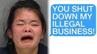 r/Prorevenge How I Destŗoyed A Karen's Illegal Business