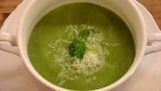 крем-суп со шпинатом грибами картофелем и сливками