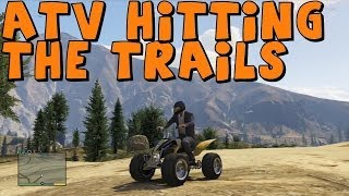 GTA 5 | Realistic Off-Roading | Part 2 | ATV/Quad Bike Hitting The Trails!
