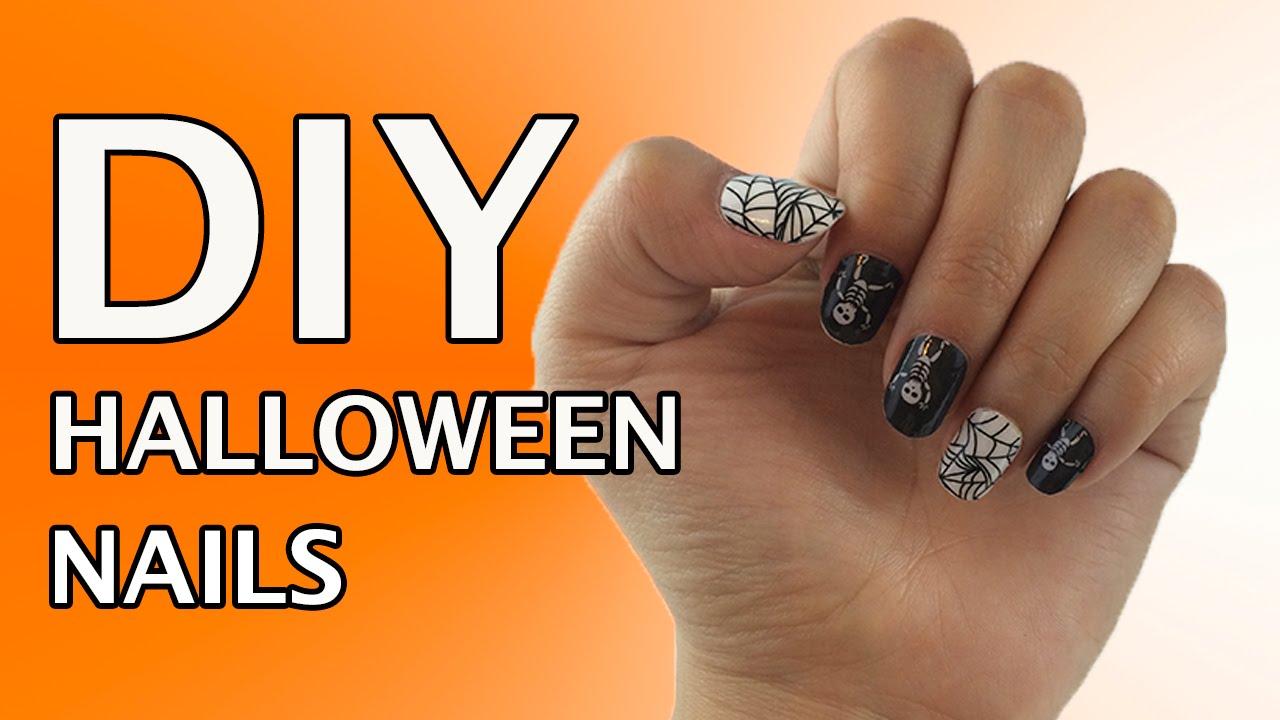 Diy Nails Using Jamberry Nail Wraps Spider Web Skeleton
