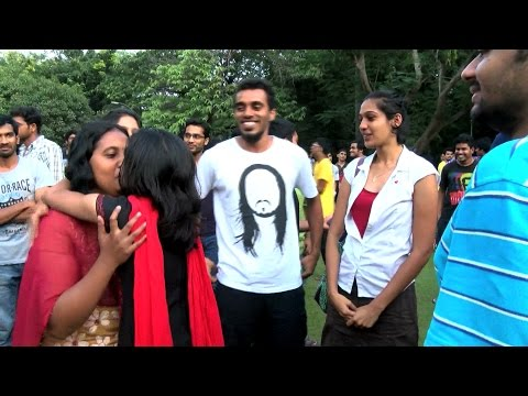 Kiss of Love Protest in Chennai IIT Chennai City - Must Watch