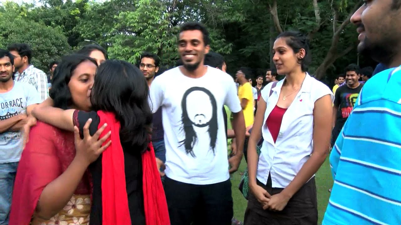Kiss Of Love Protest In Chennai Iit Chennai City - Must -6913