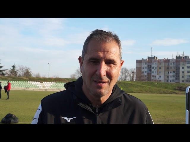 Димитър Димитров след контролата Берое - Загорец (06.02.2001)
