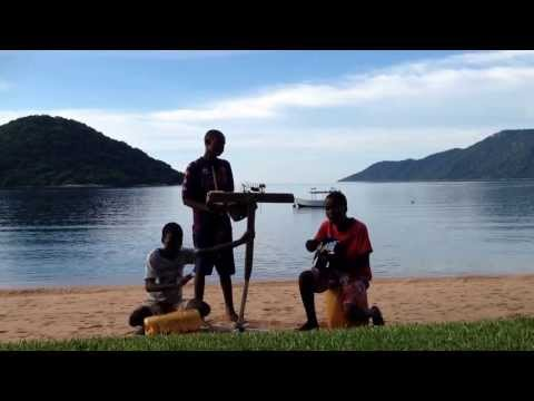 A group of 3 brothers performed for us at Cape Maclear, Malawi. The Good People Band