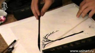 Обучение рисованию деревьев при помощи живописи у-син Часть 4